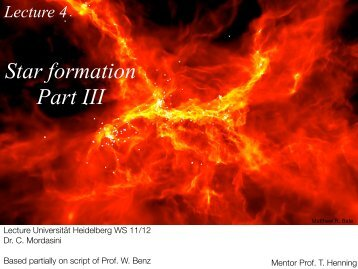 L4 Star formation Part III