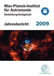 Max-Planck-Institut für Astronomie - Jahresbericht 2009