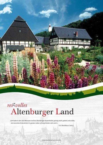 Imagebroschur Altenburger Land - Altenburg Tourismus
