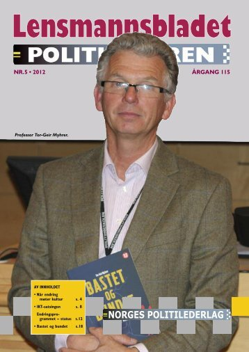 Lensmannsbladet / Politilederen nr. 5/2012 - Norges Politilederlag