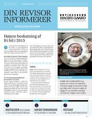 Højere beskatning af fri bil i 2013 - Hages Gaard