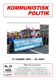 Kommunistisk Politik 18, 2009