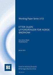 UtfordringEr for norSk økonomi - BI Norwegian Business School
