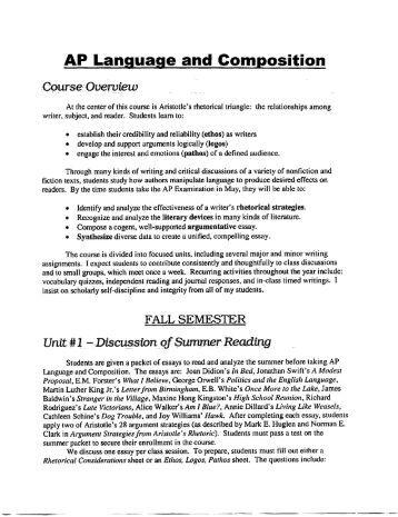 Ap english language and composition essay scoring rubric Carpinteria Rural Friedrich AP ENGLISH LANGUAGE AND COMPOSITION An Overview of the Course Image titled  Score a on an
