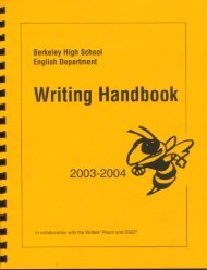 2003-4 Writing Handbook - Mrbye.com