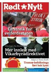 En streik for velferdsstaten - Rød Ungdom