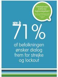 af befolkningen ønsker dialog frem for strejke og lockout - Kristelig ...