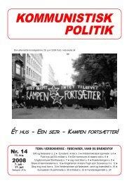 Kommunistisk Politik 14, 2008