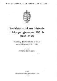Sosialstatistikkens historie i Norge gjennom 100 år (1850-1950)