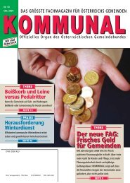 Frisches Geld für Gemeinden - Österreichischer Gemeindebund
