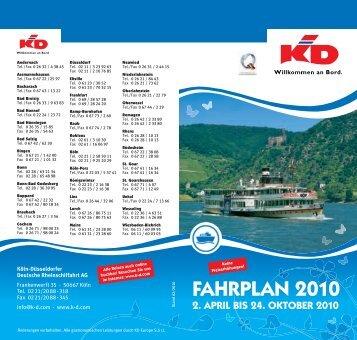 FAHRPLAN 2010 - MS-Warsteiner