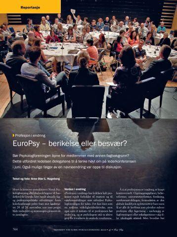 EuroPsy – berikelse eller besvær? - Tidsskrift for Norsk ...