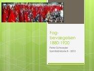 Fagbevægelsens historie 1880-1920