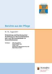 Entwicklung und Erprobung einer Ausbildung zur - msagd - in ...