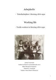 Arbejderliv Working life - Dansk Center for Byhistorie