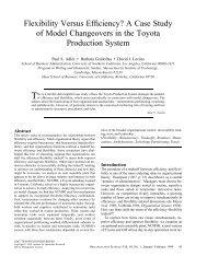 Flexibility Versus Efficiency? - Organization Science - Institute for ...