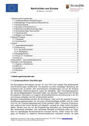 Nachrichten aus Europa - Ministerium für Soziales, Arbeit ...