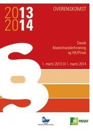 Overenskomst 2013-14 - Dansk Maskinhandel