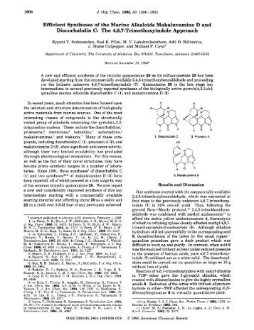 Efficient Syntheses of the Marine Alkaloids ... - RMIT University