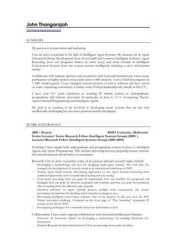 Resume (PDF) - RMIT University