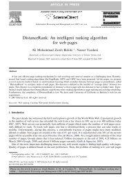 DistanceRank: An intelligent ranking algorithm for ... - RMIT University
