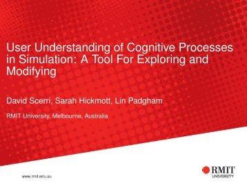 User Understanding of Cognitive Processes in ... - RMIT University