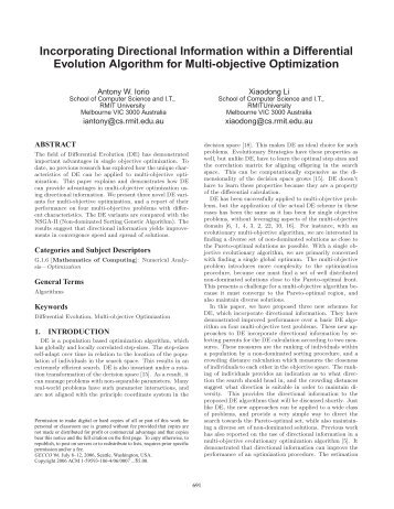 Incorporating Directional Information within a Differential ... - CiteSeerX