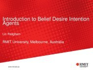 Introduction to Belief Desire Intention Agents - RMIT University