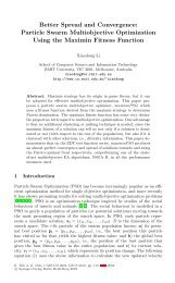 Better Spread and Convergence: Particle Swarm Multiobjective ...