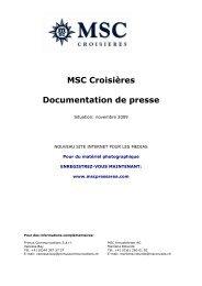 Dossier de presse TTW 2009 - MSC