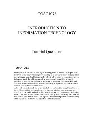 Tutorials - RMIT University