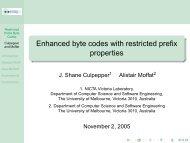 Enhanced byte codes with restricted prefix properties - RMIT University