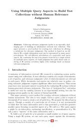 Using Multiple Query Aspects to Build Test Collections ... - Springer