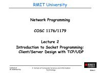 TCP Sockets - RMIT University