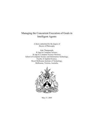 Managing the Concurrent Execution of Goals in ... - RMIT University