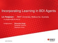 Incorporating Learning in BDI Agents - RMIT University