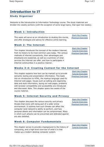 Introduction to IT - RMIT University