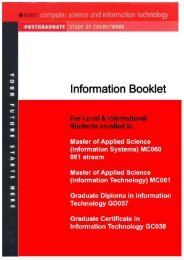 The MBC information booklet - RMIT University