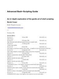 Advanced Bash-Scripting Guide - Computing Systems Laboratory