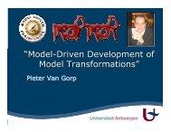 """Model-Driven Development of Model Transformations"" - MSDL"