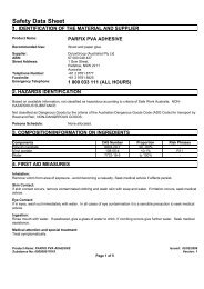 parfix pva adhesive - MSDS