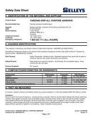 tarzans grip all purpose adhesive - MSDS