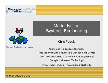 Model-Based Systems Engineering - MSDL