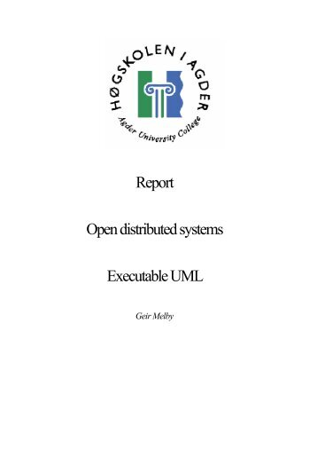 Report Open distributed systems Executable UML - MSDL
