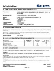 engineering silicone 401 rtv - clear - MSDS