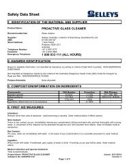 proactive glass cleaner - MSDS