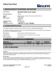 quickfix supa glue liquid - MSDS