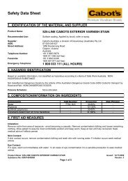 cabots exterior varnish stain - MSDS