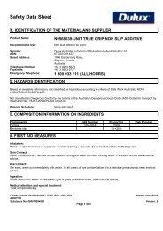 true grip non slip additive - MSDS