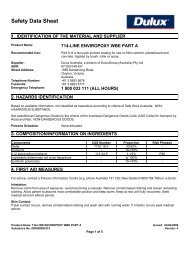 enviropoxy wbe part a - MSDS